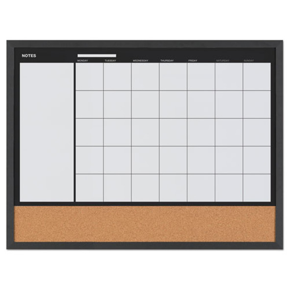 "3-in-1 Combo Planner, 24.21"" X 17.72"", White, Mdf Frame"