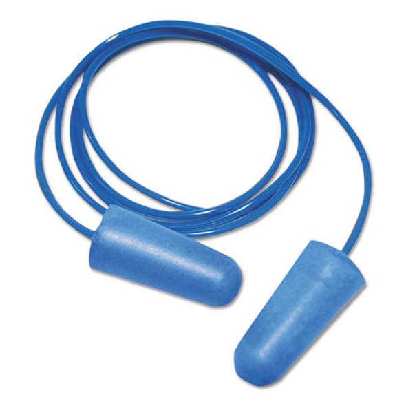 Detectable Earplugs, Corded, Blue, 200 Pairs