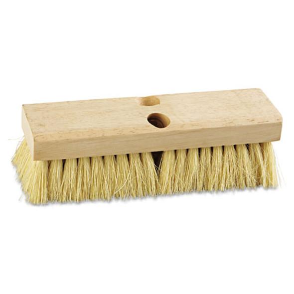 "Deck Brush Head, 10"" Wide, Tampico Bristles"