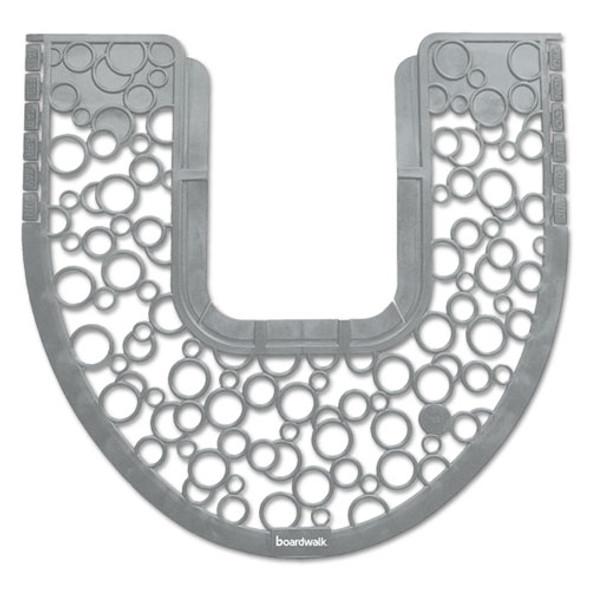 Commode Mat 2.0, Rubber, 22.88 X 22, Gray/white, 6/carton