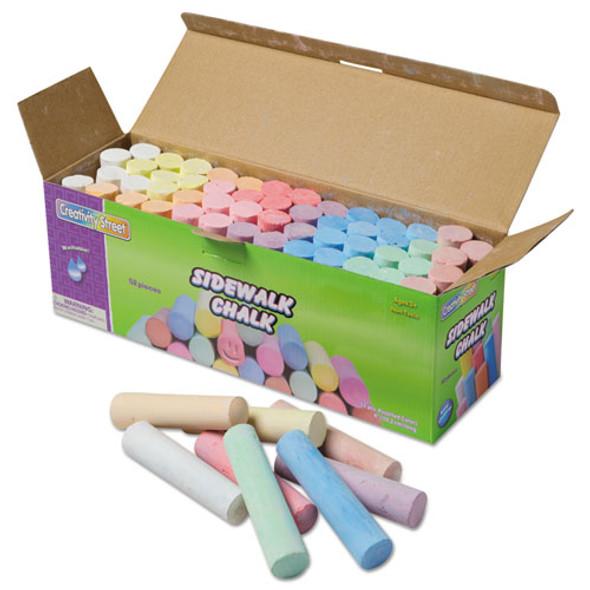 Sidewalk Chalk, 4 X 1 Dia. Jumbo Stick, 12 Assorted Colors, 52/set