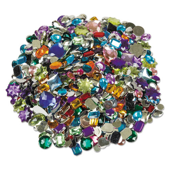 Acrylic Gemstones Classroom Pack, 1 Lb, Assorted Colors/sizes