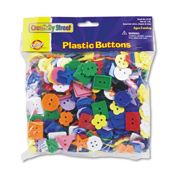 Plastic Button Assortment, 1 Lb, Assorted Colors/sizes