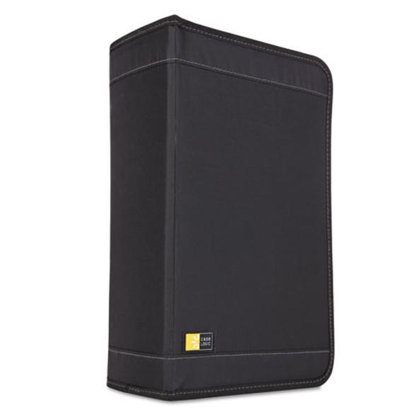 Cd/dvd Wallet, Holds 136 Discs, Black