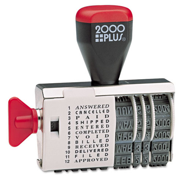 Dial-n-stamp, 12 Phrases, 1 1/2 X 1/8
