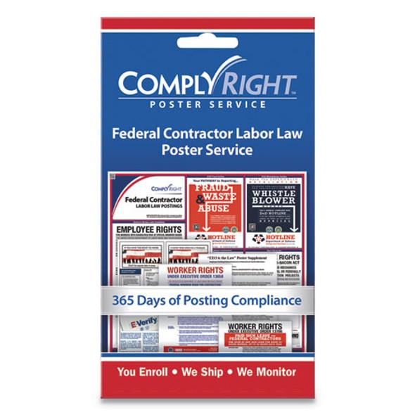 "Labor Law Poster Service, ""federal Contractor Labor Law"", 4w X 7h"