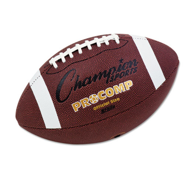 """Pro Composite Football, Official Size, 22"""", Brown"""
