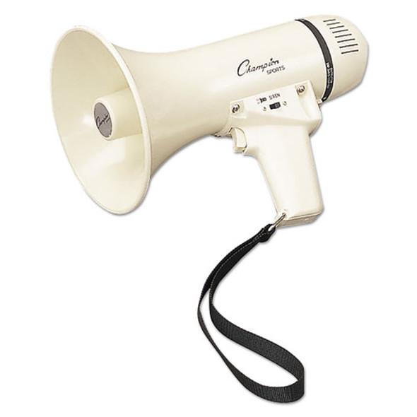 Megaphone, 4-8w, 400 Yard Range, White