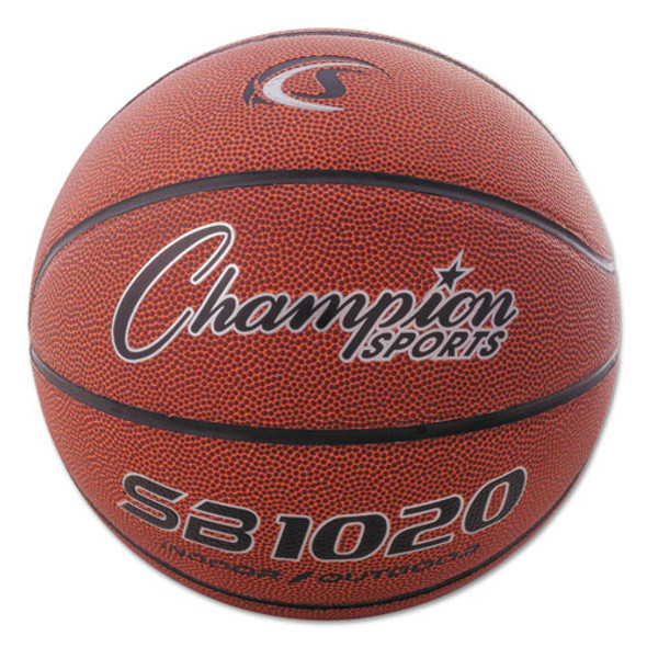 """Composite Basketball, Official Size, 30"""", Brown"""