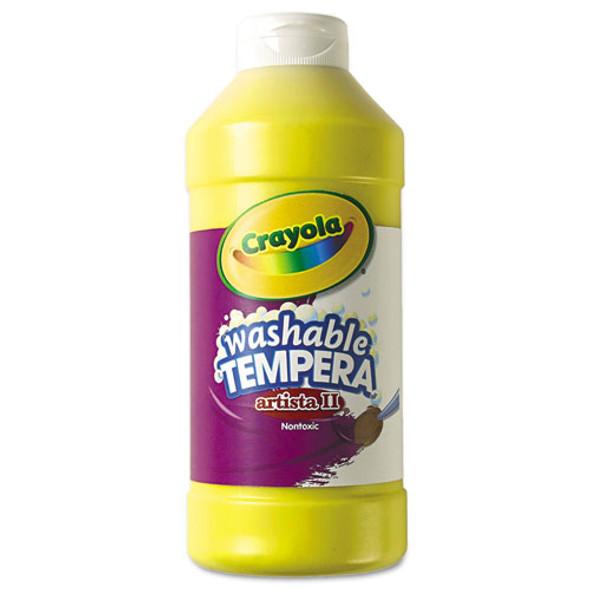 Artista Ii Washable Tempera Paint, Yellow, 16 Oz