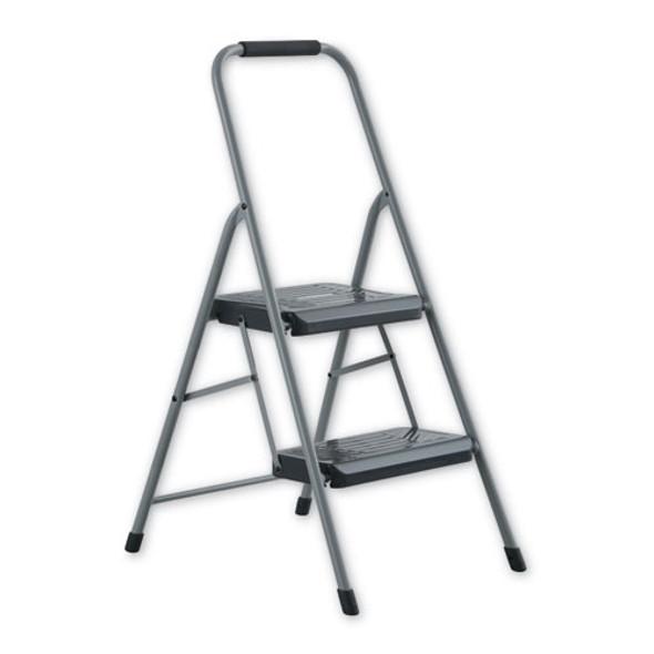 Black And Decker Steel Step Stool, 2-step, 200 Lb Capacity, Gray