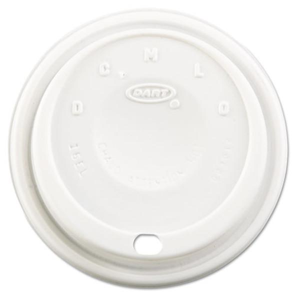 Cappuccino Dome Sipper Lids, Fits 12-24oz Cups, White, 1000/carton