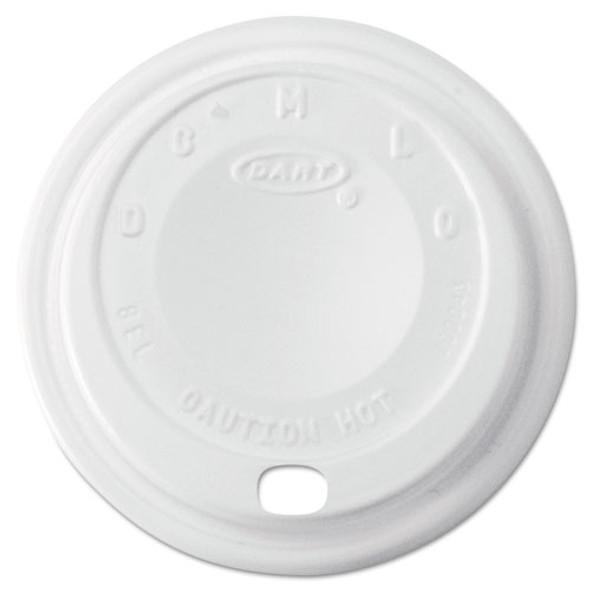 Cappuccino Dome Sipper Lids, 8-10oz Cups, White, 1000/carton