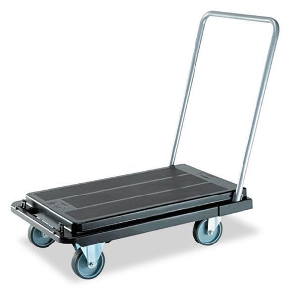 Heavy-duty Platform Cart, 500 Lb Capacity, 21 X 32.5 X 37.5, Black