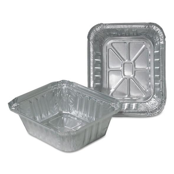 Aluminum Closeable Containers, 1 Lb Oblong, 1000/carton