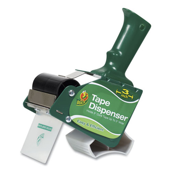 "Extra-wide Packaging Tape Dispenser, 3"" Core, Green"