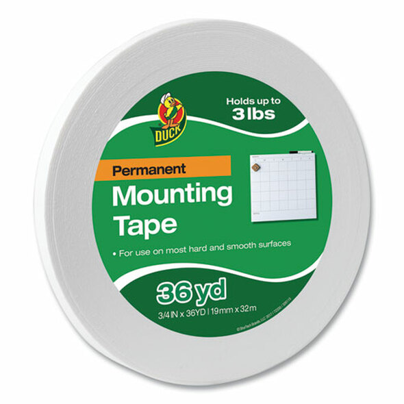 "Permanent Foam Mounting Tape, 3/4"" X 36yds"