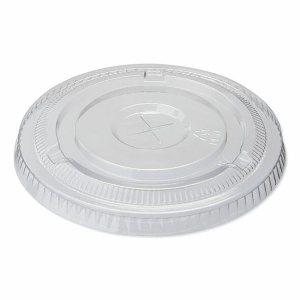 Cold Drink Cup Lids, Fits 16 Oz Plastic Cold Cups, Clear, 100/sleeve, 10 Sleeves/carton