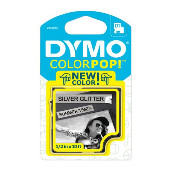 "Colorpop! Label Maker Tape, 0.5"" X 10 Ft, Black On Silver"
