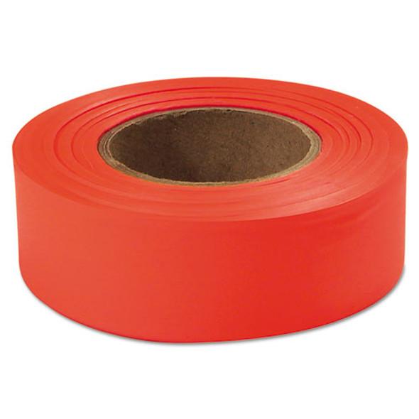 "Flagging Tape, Glo-orange, 1"" X 200ft, Plastic"
