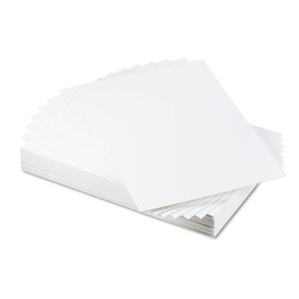 Cfc-free Polystyrene Foam Board, 20 X 30, White Surface And Core, 25/carton