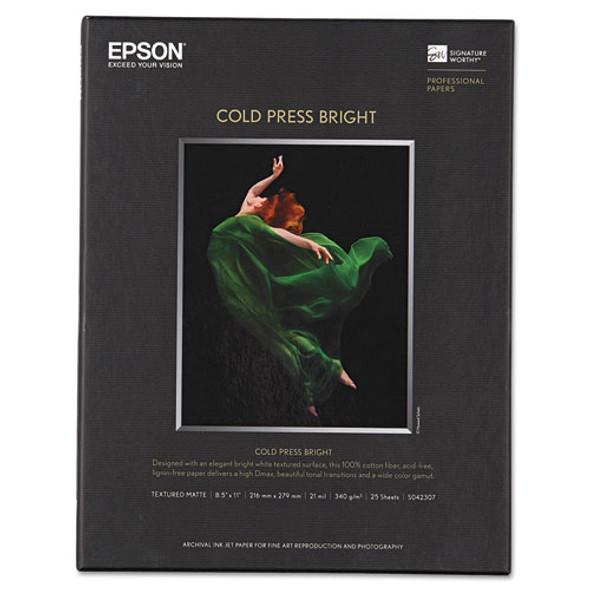 Cold Press Bright Fine Art Paper, 21mil, 8.5 X 11, Textured Matte White, 25/pack
