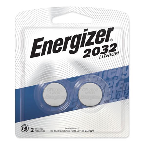 2032 Lithium Coin Battery, 3v, 2/pack