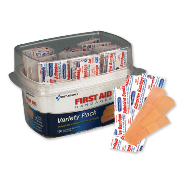 First Aid Bandages, Assorted, 150 Pieces/kit