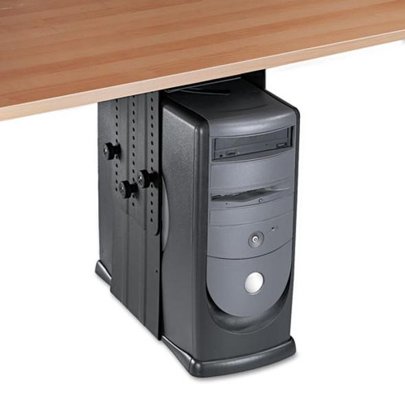 Under Desk Cpu Holder, 17w X 12d X 11h, Black