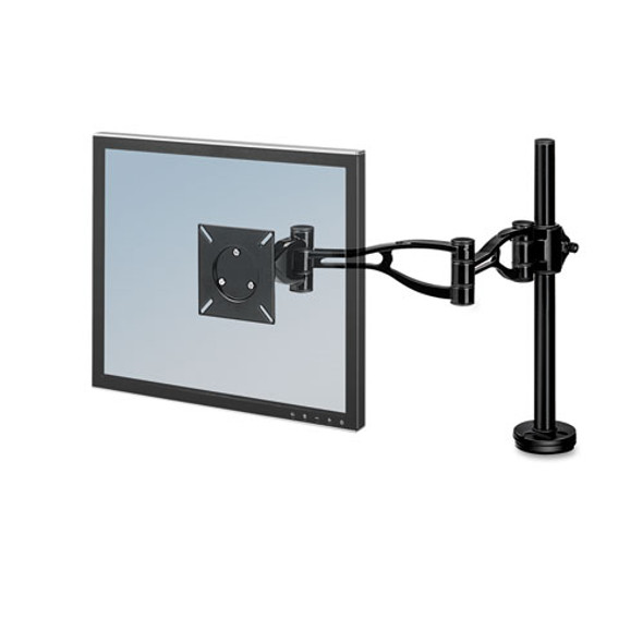 Depth Adjustable Monitor Arm, 4.38w X 24d X 21h, Black