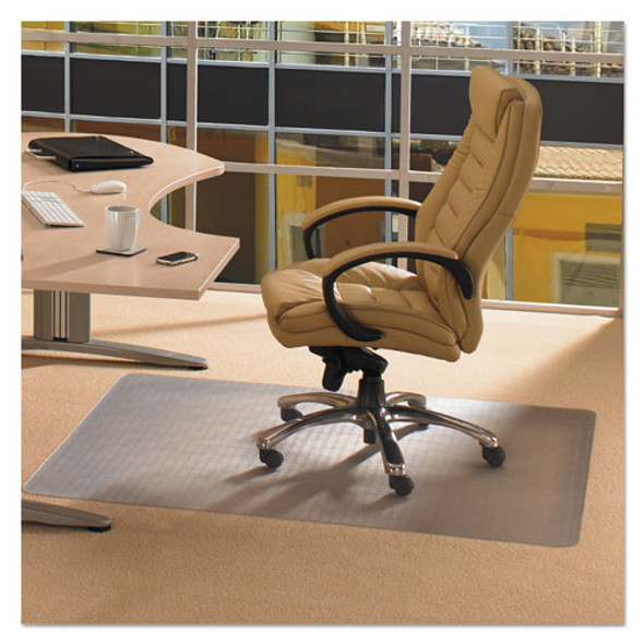 Cleartex Advantagemat Phthalate Free Pvc Chair Mat For Low Pile Carpet, 60 X 48, Clear