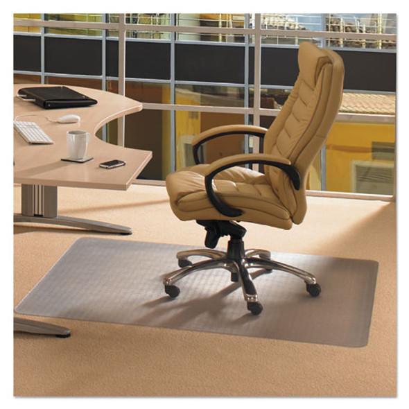 Cleartex Advantagemat Phthalate Free Pvc Chair Mat For Low Pile Carpet, 48 X 36, Clear