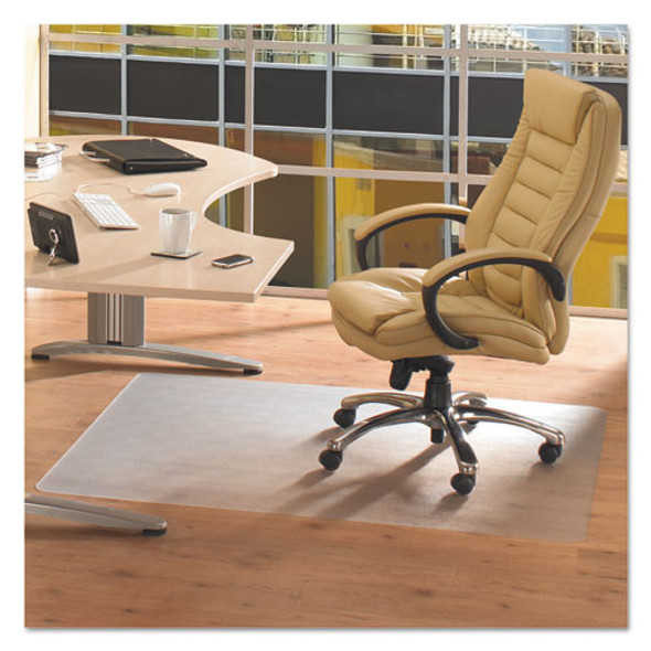 Cleartex Advantagemat Phthalate Free Pvc Chair Mat For Hard Floors, 48 X 36, Clear