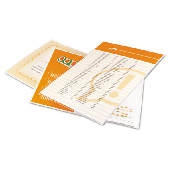 """Economy Thermal Laminating Pouches, 3 Mil, 9"""" X 11.5"""", Gloss Clear, 200/box"""