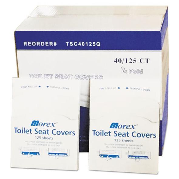 Quarter-fold Toilet Seat Covers, White, 14 1/2 X 16 1/2, 5000/carton