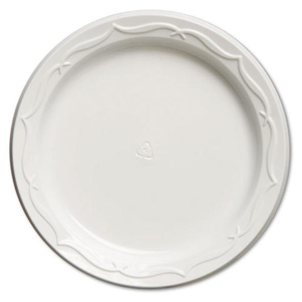 """Aristocrat Plastic Plates, 6"""", White, Round, 125/pk, 8 Pk/ct"""
