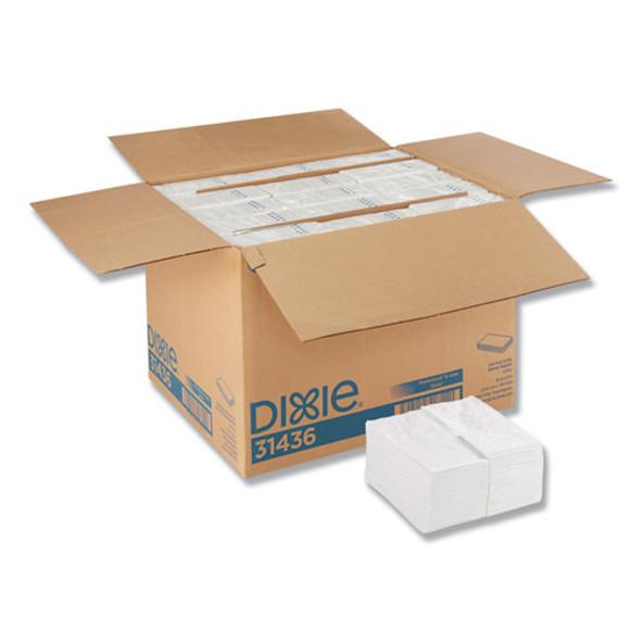 1/8 Fold Dinner Napkins, 15 X 16, White, 3000/carton
