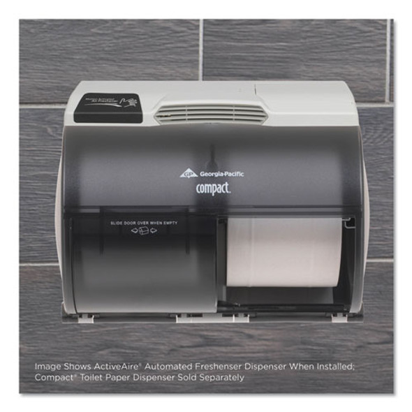"""Activeaire Automated Freshener Dispenser For Compact Bath Tissue Dispenser, 10.63"""" X 2.88"""" X 3.75"""", Gray"""
