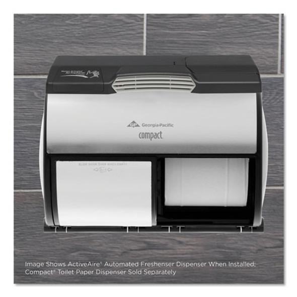 "Activeaire Automated Freshener Dispenser For Compact Bath Tissue Dispenser, 10.63"" X 2.88"" X 3.75"", Black"