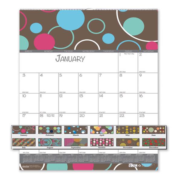 100% Recycled Bubbleluxe Wall Calendar, 12 X 12, 2021