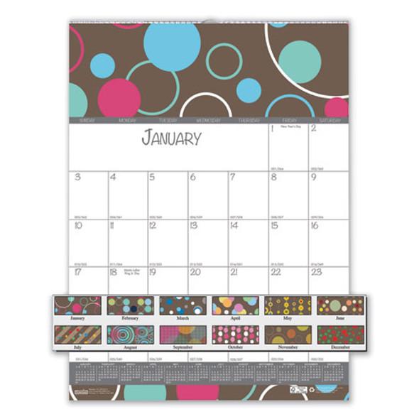 100% Recycled Bubbleluxe Wall Calendar, 12 X 16.5, 2021