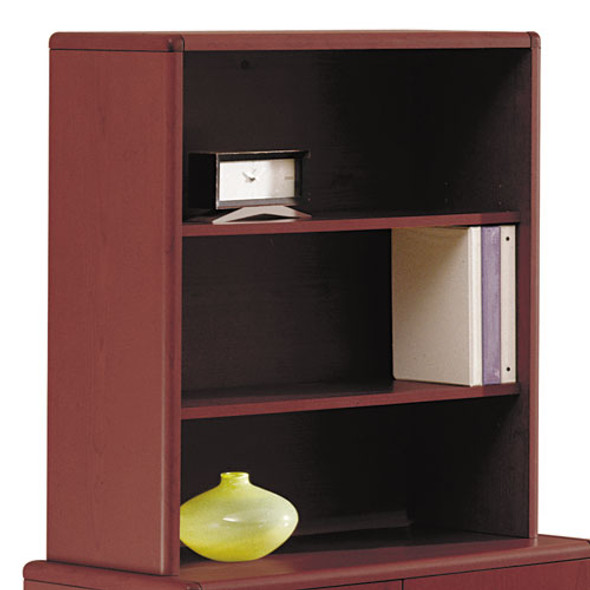 10700 Series Bookcase Hutch, 32.63w X 14.63d X 37.13h, Mahogany