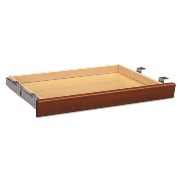 Laminate Angled Center Drawer, 26w X 15.38d X 2.5h, Cognac