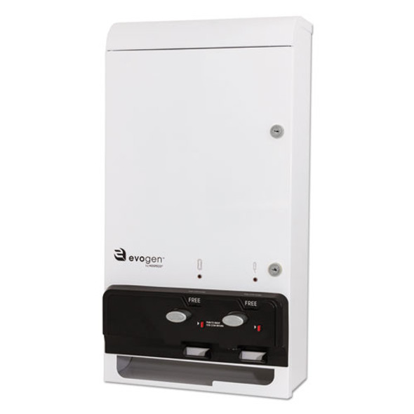 """Evogen Feminine Hygiene Dispenser, Metal, 14"""" X 7.75"""" X 26.25"""", White"""