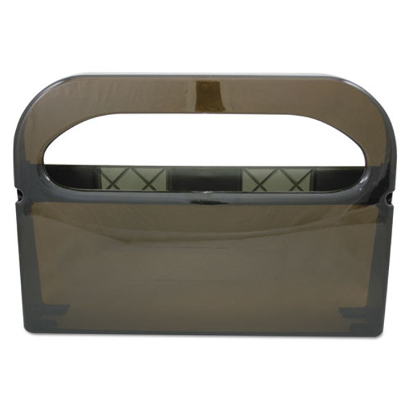 Health Gards Toilet Seat Cover Dispenser, Smoke, 16wx3-1/4dx11-1/2h