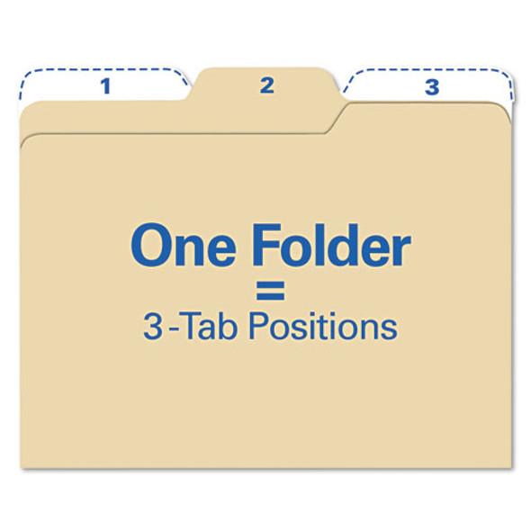 All Tab File Folders, 1/3-cut Tabs, Letter Size, Manila, 80/pack