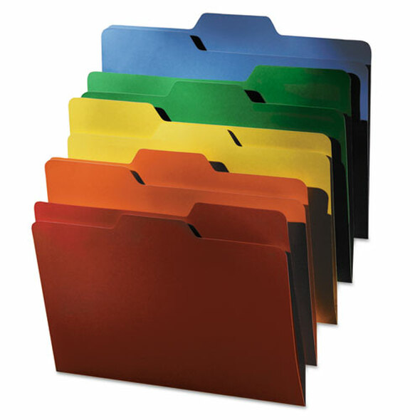 All Tab File Folders, 1/3-cut Tabs, Letter Size, Assorted, 80/pack