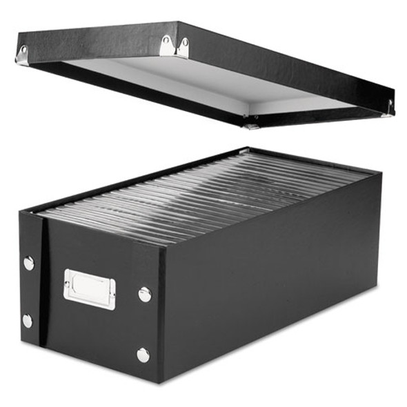 Media Storage Box, Holds 26 Dvds In Full-size Dvd Cases, Black