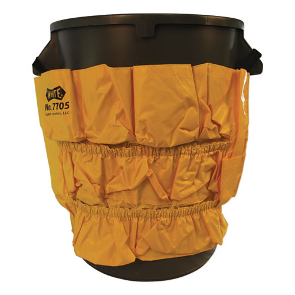 Gator Caddy Vinyl Yellow Bag, 9 Pockets, 20w X 20.5h, Yellow