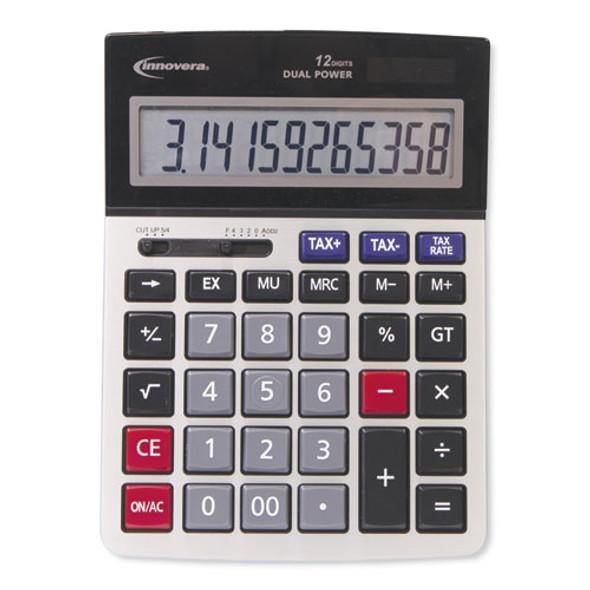 15975 Large Display Calculator, Dual Power, 12-digit Lcd Display